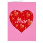 Amor en forma de corazón/tarjeta de felicitación