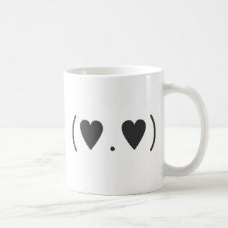 Amor en gris taza de café