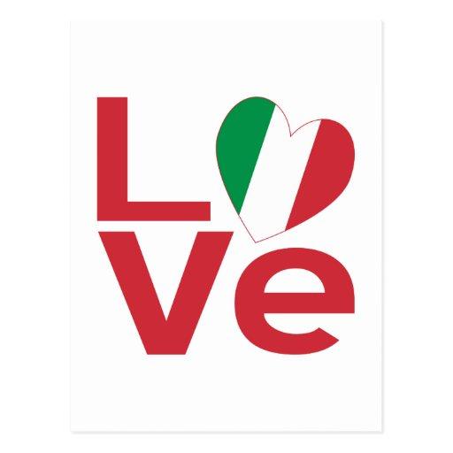 Amor en Italia Tarjetas Postales