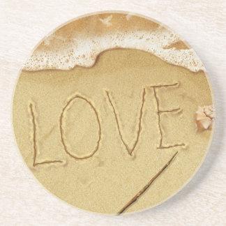 amor en la arena posavasos personalizados