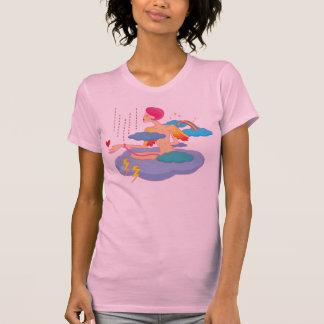 Amor en la camiseta de la nube