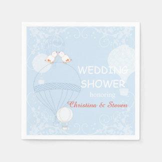 Amor en la ducha del boda de los azules cielos del servilleta desechable