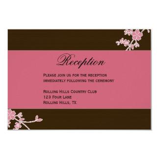 Amor en la floración: Recepción nupcial Invitación 8,9 X 12,7 Cm