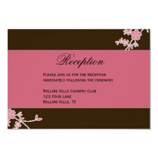 """Amor en la floración: Recepción nupcial Invitación 3.5"""" X 5"""""""