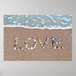 Amor en la playa impresiones