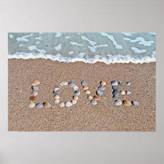 Amor en la playa póster