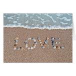 Amor en la playa tarjetas