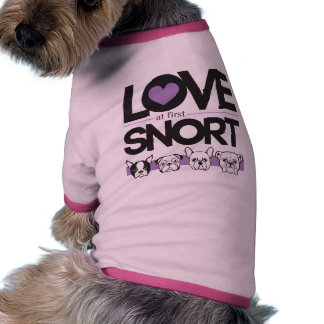 Amor en la primera camisa del perrito del Snort Camisas De Perritos