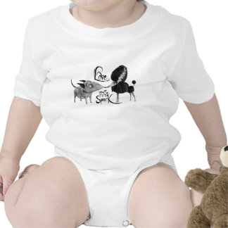 Amor en la primera chispa trajes de bebé