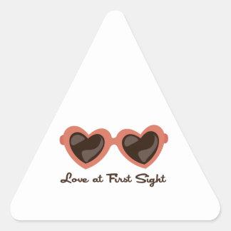 Amor en la primera vista calcomanías trianguloes personalizadas