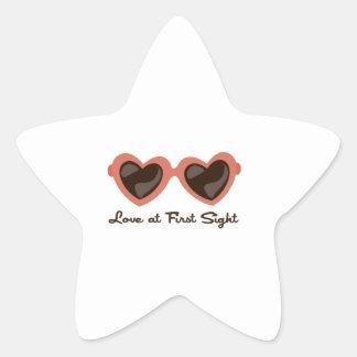 Amor en la primera vista calcomanías forma de estrellaes