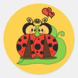 Amor en la primera vista pegatinas redondas