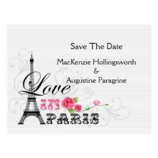 Amor en la reserva de París la fecha Postal