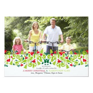 Amor en la tarjeta del día de fiesta de la foto invitación 12,7 x 17,8 cm