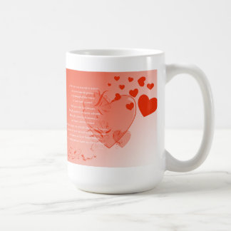 Amor en la tierra sólida taza básica blanca