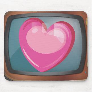 Amor en la TV Alfombrillas De Raton