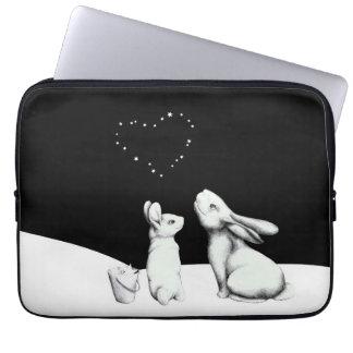 Amor en las estrellas - conejo y corazón en manga portátil