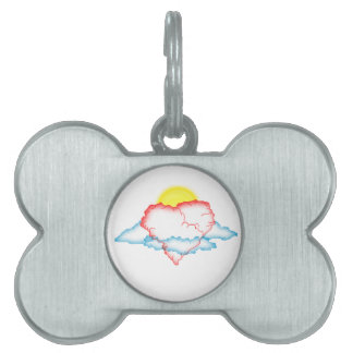 Amor en las nubes placas de mascota