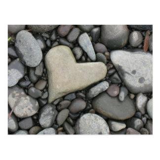 Amor en las rocas tarjeta postal
