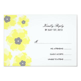 """Amor en las tarjetas de RSVP de la floración Invitación 3.5"""" X 5"""""""