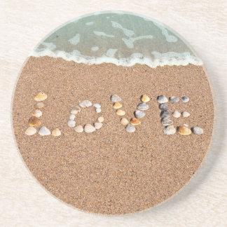 Amor en los prácticos de costa de Shell del mar de Posavasos Manualidades