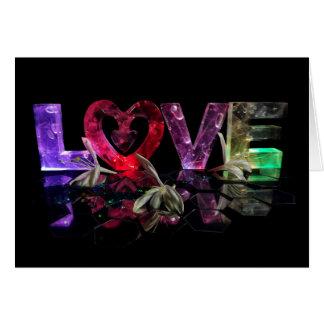 Amor en luces con la madreselva tarjeta de felicitación