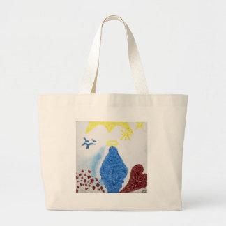 Amor en luz: Madre bendecida Virgen María en aceit Bolsas De Mano