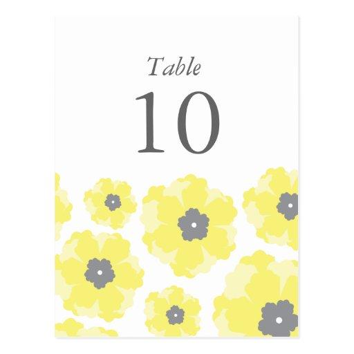 Amor en números de la tabla de la floración postal