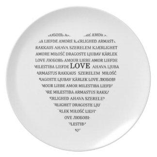 Amor en otros idiomas platos de comidas