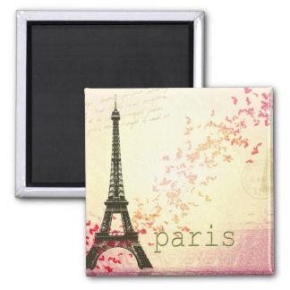 Amor en París Imán Cuadrado