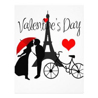 Amor en París Plantilla De Membrete