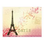 Amor en París Postal