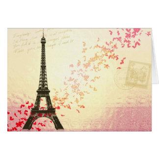 Amor en París Tarjetón