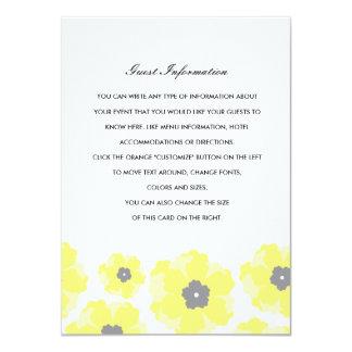 """Amor en parte movible del boda de la floración invitación 4.5"""" x 6.25"""""""