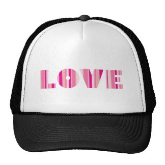 Amor en rosa rayado gorro
