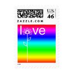 Amor en sello del arco iris de la floración