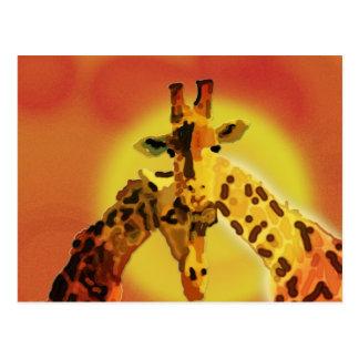 Amor en Serengeti Postales