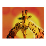 Amor en Serengeti Tarjeta Postal
