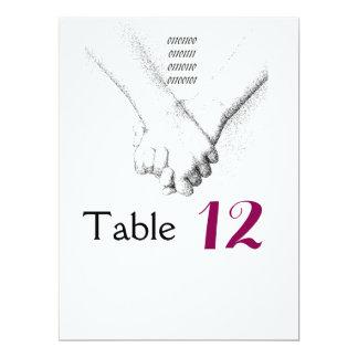 """""""Amor en"""" tarjeta binaria de la tabla del boda Invitación 6.5"""" X 8.75"""""""
