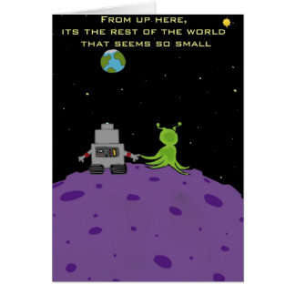 Amor en tarjeta de felicitación de Plutón