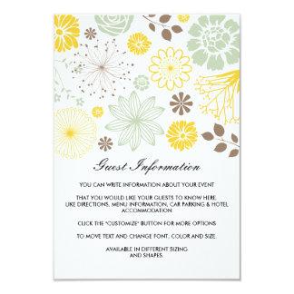 """Amor en tarjeta del parte movible del boda de la invitación 3.5"""" x 5"""""""