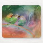Amor en un arco iris Mousepad Alfombrillas De Ratones