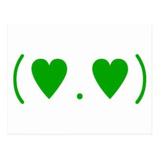 Amor en verde postal