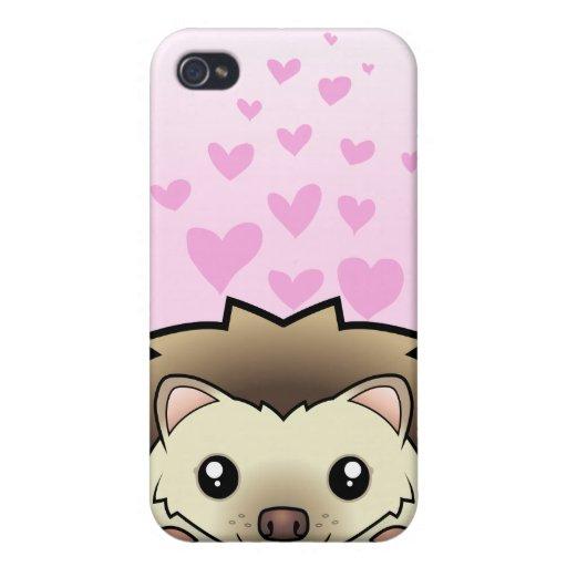 Amor enano del erizo iPhone 4/4S fundas