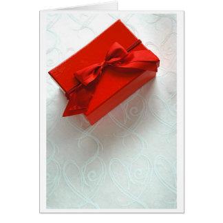 Amor encajonado tarjeta de felicitación