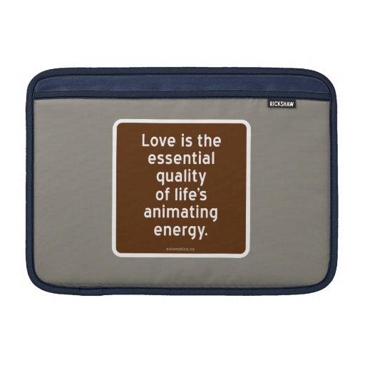 Amor: energía de animación de la calidad de vida e funda  MacBook