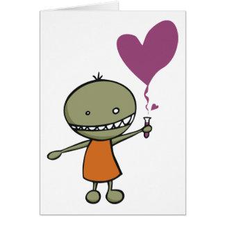 Amor enojado de la ciencia tarjeta de felicitación
