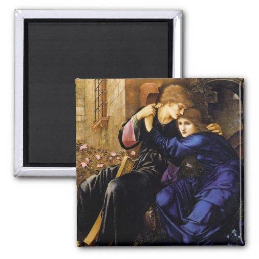 Amor entre el arte del Pre-Raphaelite de las ruina Imanes