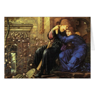 Amor entre la bella arte de las ruinas tarjetas
