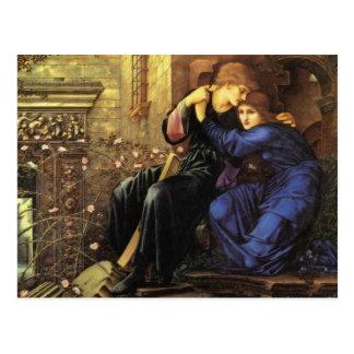Amor entre la bella arte de las ruinas tarjeta postal